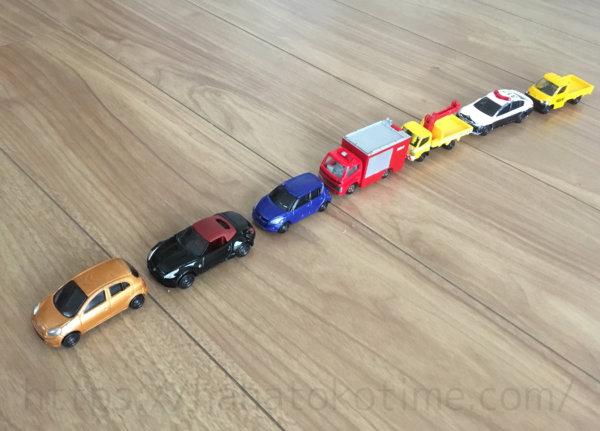 車を並べて数える