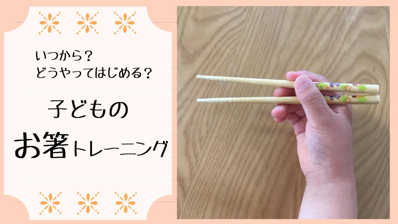 子どものお箸の持ち方